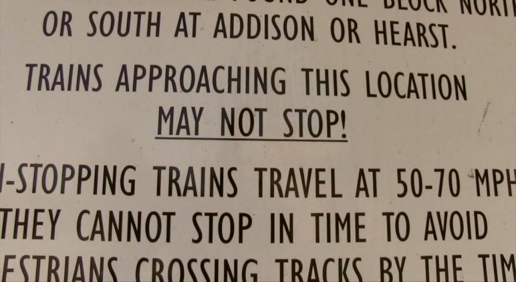 Trains may not stop
